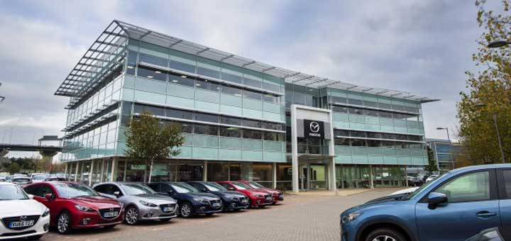Mazda oopoens new UK headquarters