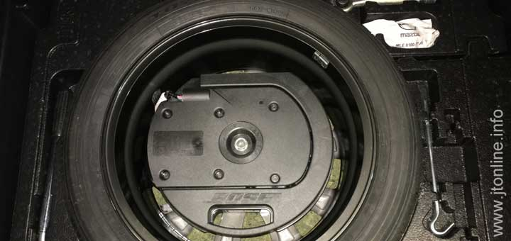 How to install an 18 inch spare wheel in a Mazda CX-3