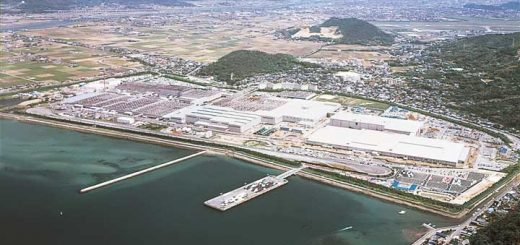 Hofu Plant from the air